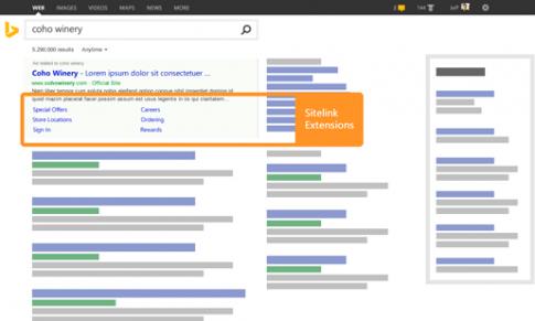 Extensiones de enlaces de sitio