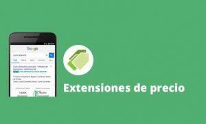Extensiones de precio en campañas de Google Ads